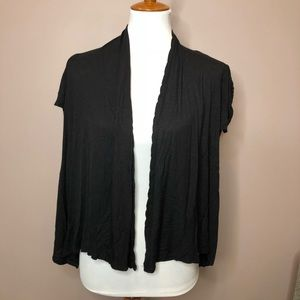 Black lightweight open cardigan
